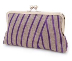 Hey, I found this really awesome Etsy listing at https://www.etsy.com/listing/163364034/clutch-bag-linen-purse-purple-stripe