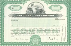 Buy One Share of Coca-Cola Stock for a Unique gift Coca Cola Stock, Coca Cola Bottling Company, Awesome Definition, Candy Companies, Trade Secret, Marketing Tactics, Non Alcoholic, Novelty Gifts