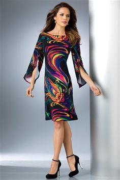 Slit-Sleeve-Dress