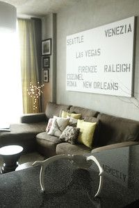 Cool idea for a large canvas - Past trips or future dream vacations!