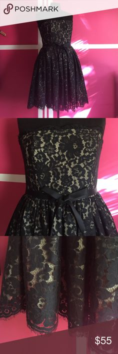 Robert Rodriguez for Neiman Marcus Lace dress This dress is stunning! Babydoll now around the waist and bra strap around the top. You will get so many compliments! 🚫trades please! Robert Rodriguez Dresses Strapless