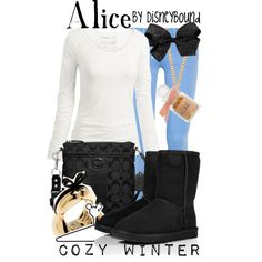An adorable Alice-inspired Disneybound outfit perfect for a cold day in Wonderland, or anywhere else for that matter!! ♥