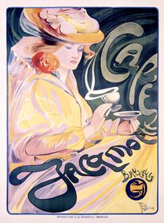art deco coffee poster