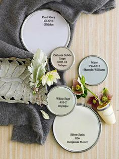 Colorful Neutral paint colors via BHG.com