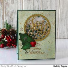 Merry Christmas Shaker Card Christmas Shaker Card #prettypinkposh