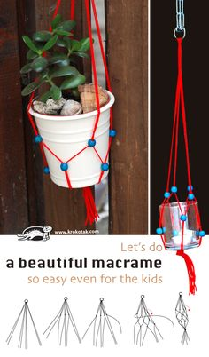 Let's do a beautiful macrame – so easy even for the kids