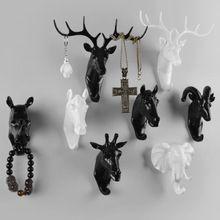 挂衣钩创意装饰动物头挂钩鹿头衣帽钩壁饰树脂工艺品创意家居