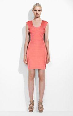 a264aa9e5e6a7 Herve Leger Coral Bust Hole Backless Bandage Dress Vestidos Baratos