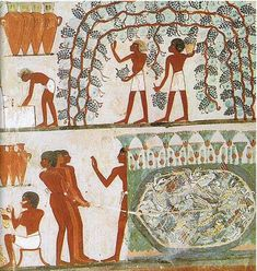 Vintage in Ancient Egypt, Tomb of Nakht, century BC Ancient Egyptian Paintings, Egyptian Drawings, Ancient Art, Ancient History, Art History, Carlin, Egypt Art, Sumerian, African History