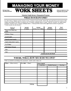 Printables How To Budget My Money Worksheet how to budget my money worksheet abitlikethis amp budgeting on pinterest worksheets worksheets