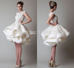 Find More Evening Dresses Information about New Arrival Cap Sleeve Scoop Ruffles Lace Organza Multi Layer Puffy Skirt Summer White 2014 Homecoming Dress Short Prom Dresses,High Quality dress barn dress,China dress with open back Suppliers, Cheap dress code dresses from Sweet-Bridal on Aliexpress.com