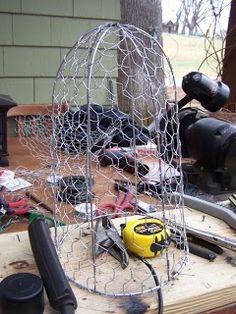 The Floppy Cow: Chicken Wire Cloche Tutorial Garden Cloche, Craftsman Bungalows, Chicken Wire, Wire Baskets, Decorative Items, I Shop, Cow, Diy And Crafts, Restoration