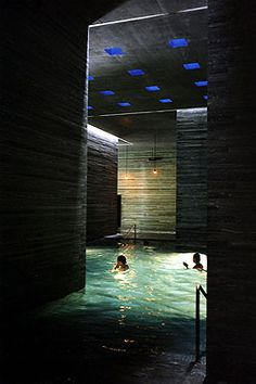 Zumthor's thermal bath | Switzerland | one photo just doesn't do it justice