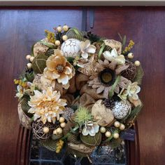 Neutral Year Round Wreath by HertasWreaths on Etsy