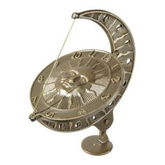 Whitehall Products 0127 Garden Accents Sun and Moon Sundial