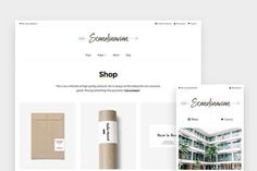 Minimal WP Shop Theme - Scandinavian by Hello Detail on @creativemarket