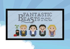 Fantastic Beasts and Where to Find Them cross stitch pattern by Cloudsfactory