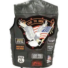 Diamond Plate Biker Buffalo Motorcyle Leather LED VEST Safety AT ITS Finest! #twitter @ebay @ebay @motorcycle