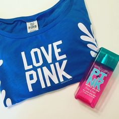 Pink VS Crop Top Women's small. Blue and white. Only top is for sale PINK Victoria's Secret Tops Crop Tops