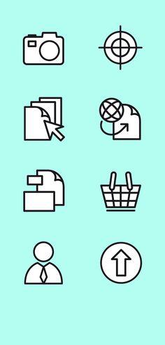 Icons voor Drukwerkbestelsysteem