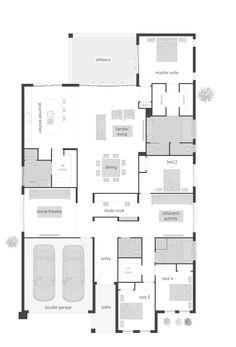 Oasis Two floor plan by McDonald Jones. Exclusive to Queensland. #floorplan, #housedesigns, #mcdonaldjones