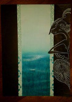 "Wyang Kulit (""Dewa Ruci"") #art #illustration #wayang_kulit"