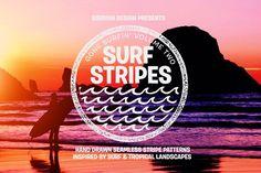 GONE SURFIN' Vol 2 - SURF STRIPES by Sibayan Design Goods on @creativemarket
