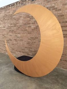 Giant crescent moon photo booth - 8'x8'x2', built-in bench!