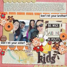 Layout using {Mom Said} Digital Scrapbook Kit by Red Ivy Designs available at Sweet Shoppe Designs http://www.sweetshoppedesigns.com/sweetshoppe/product.php?productid=32836&page=1 #redivydesigns