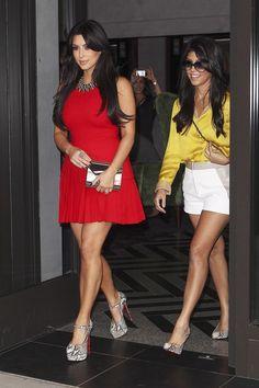 Kim  Kourtney Kardashian... - Kim Kardashian Style