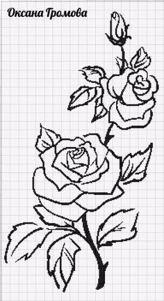 Cross Stitch Pillow, Cross Stitch Rose, Cross Stitch Charts, Cross Stitch Designs, Cross Stitch Embroidery, Cross Stitch Patterns, Crochet Tablecloth Pattern, Crochet Edging Patterns, Seed Bead Patterns