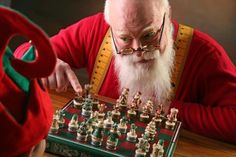 Santa Claus Chess | CitaScacchi Fabulous Faces #Chess #Scacchi #SantaClaus #BabboNatale #FabulousFaces