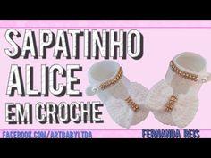 Sapatinho De Croche Alice - Passo a Passo - Professora Fernanda Reis - YouTube