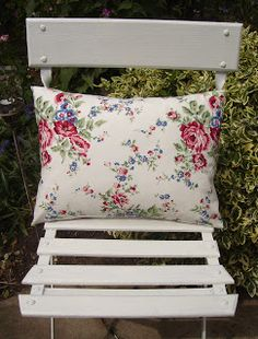 Linen and Roses - Floral Cushion