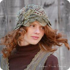 Woodland Flapper Cloche Hat. $155.00, via Etsy.