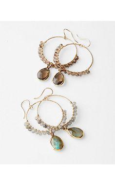 Nashelle Semiprecious Hoop Earrings