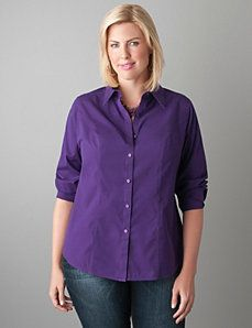 non ironing long sleeves shirt from Lane Bryant