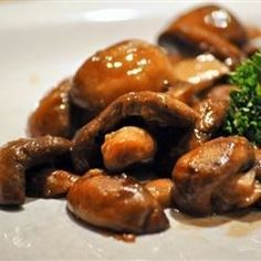 """Mushrooms with a Soy Sauce Glaze 