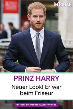 Wow, wie cool! Prinz Harry zeigt sich plötzlich mit einem neuen Look! #prinzharry #starfrisuren #britischeroyals #royals #royalnews #promis #stars #vipnews #prominews #intouch Prinz Philip, Prinz William, Royal News, Vip News, Die Queen, Prinz Harry, Cooler Look, Suit Jacket, Breast
