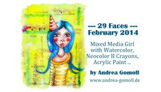 【29 Faces】 Mixed Media Artjournal Page