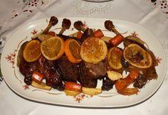 Narancsos kacsa Hungarian Recipes, Hungarian Food, Sausage, Steak, Xmas, Cooking Recipes, Menu, Dinner, Ethnic Recipes
