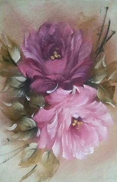 Bella pintura en flores🦋🌷❤️ - My CMS Acrylic Painting Flowers, Abstract Flowers, Watercolor Flowers, Watercolor Paintings, Art Floral, Flower Prints, Flower Art, Flower Images, Flower Wallpaper