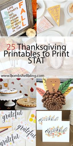 Thanksgiving printables for you to enjoy, from frame-worthy designs to games for the kiddos! Happy Thanksgiving!