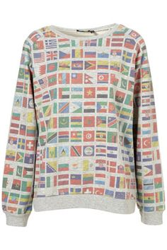 **Flag Print Sweater By Ashish
