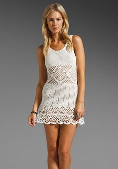 UNIF Boardwalk Crochet Mini Dress in White at Revolve Clothing - Free Shipping!