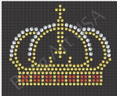 Crown Rhinestone Downloads File Pattern Bling King SVG PLT EPS PDF Stone Stencil Royal Royalty Easy Power Sticky Flock Ruler