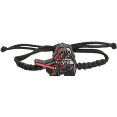 Star Wars Darth Vader Cord Bracelet Hot Topic ($15) ❤ liked on Polyvore featuring jewelry, bracelets, charm jewelry, charm bangle, rubber jewelry, cord bracelet and rope bracelet
