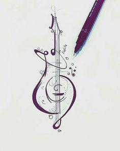 tatoos music drawings, guitar tattoo e tattoos. Music Drawings, Pencil Drawings, Art Drawings, Music Tattoos, Body Art Tattoos, Tatoos, Music Tattoo Designs, Tattoo Ink, Guitar Art