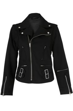Dead Threads Detachable Sleeves Women's Biker Jacket $58.41