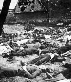 Shot Lidice men and children. Some of the boys was not yet 15 years old.